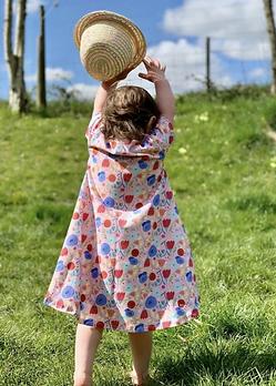 Childrens organic cotton jersey floral dress