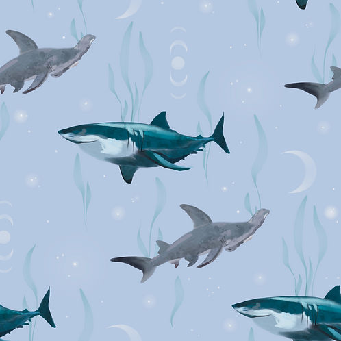 Sharks - Powder Blue