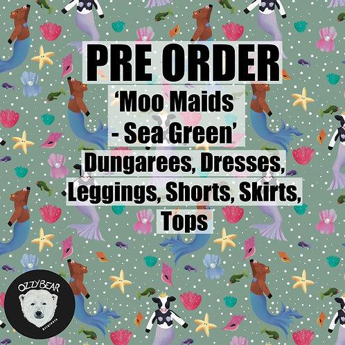 Pre Order Moo Maids - Sea Green