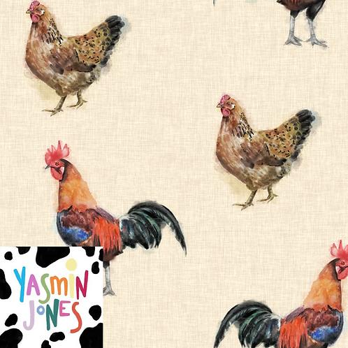 Cock and Hen Linen