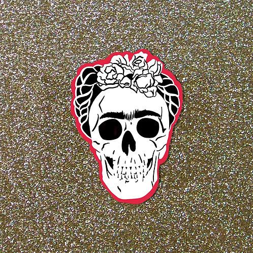 Frida Skull Sticker