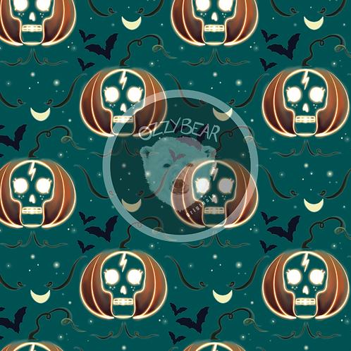 Pumpkin Skull Green