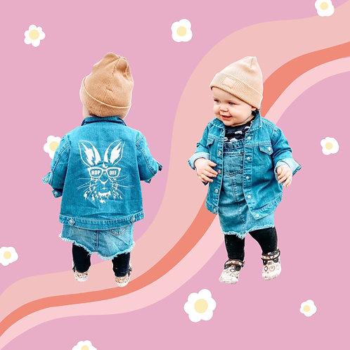 Hop Off Organic Denim Jacket Kids