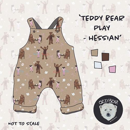 Teddy Bear Play Hessian