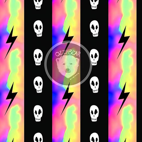 Skull Stripes Neon