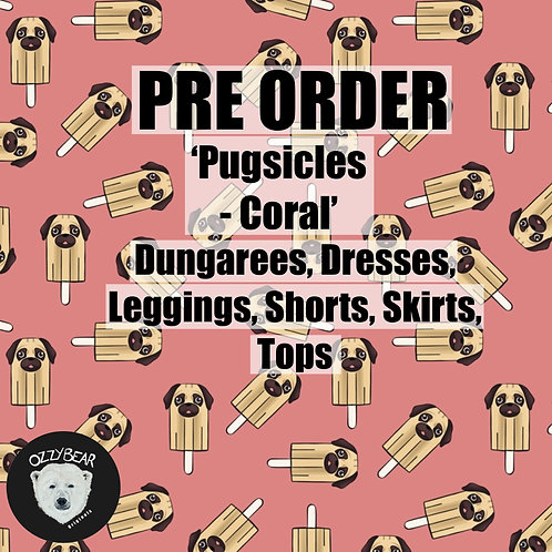 Pre Order Pugsicles - Coral