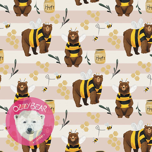 Bear in Bees Clothing - Neutral Stripe