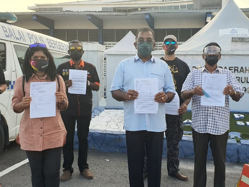 Penduduk DUN Sentosa buat laporan polis kerajaan PN cuai tangani Covid 19