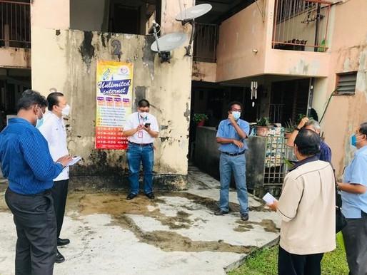 ADUN Batu Uban selesaikan masalah pembentungan Flat PDC Lebuh Nipah