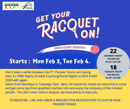 fb post for Get Your Racquet On. 5ascv.p