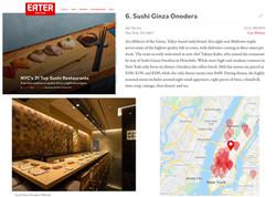 Sushi Ginza Onodera NY Best Sushi Restaurants 2021