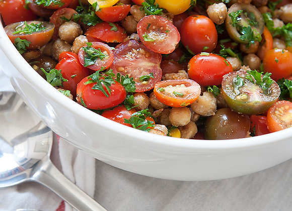Heirloom Tomato Salad with Roasted Chickpeas