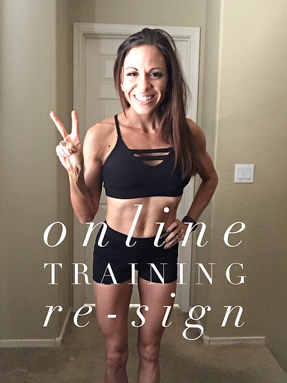 Online Personal Training Re-Sign