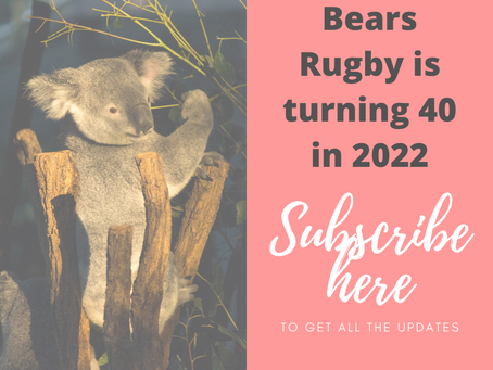 Bears Rugby is turning 40