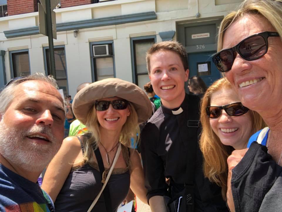 SMT members and Pastor Peter at the NYC Pride Parade