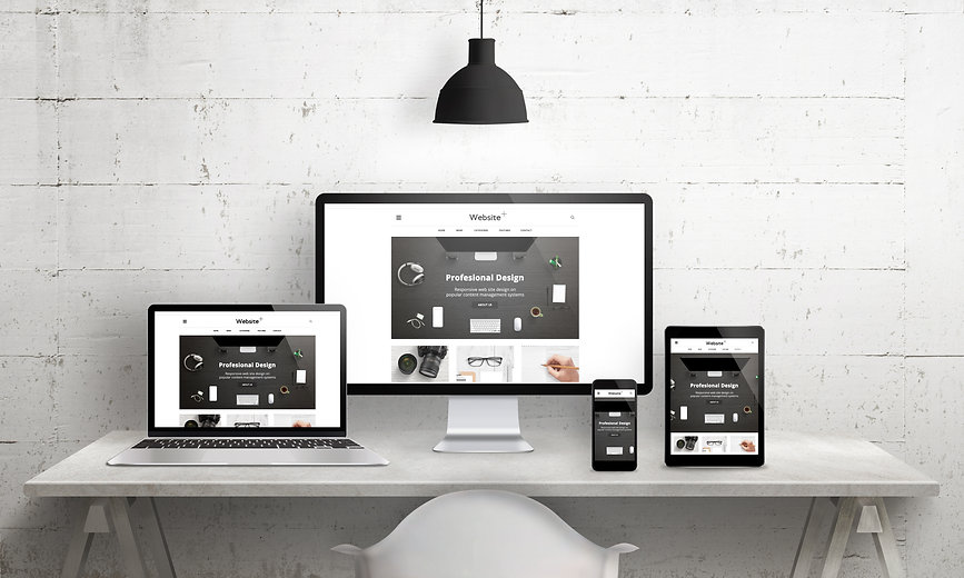 Creative deks scene for web design agenc