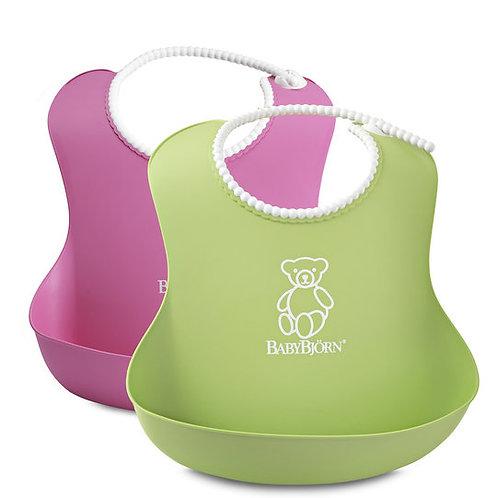 BabyBjorn / Нагрудник мягкий пластиковый для кормления ребенка (2 шт.)