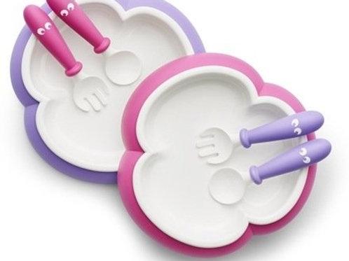 BabyBjorn / Комплект тарелок с 2-мя ложками и вилками