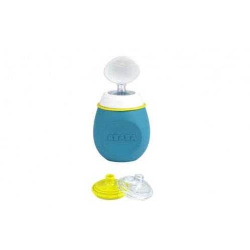 Beaba Babysqeez' 2 в 1 Поильник из силикона, Blue
