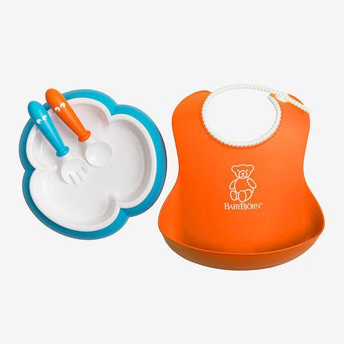BabyBjorn / Набор для кормления (нагрудник, тарелка, ложка, вилка)
