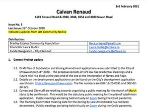 Caivan Renaud Community Notice #3