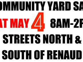 Community Yard Sale: Saturday May 4th