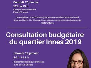 Consultation Budgetaire de l'est d'Ottawa 2019