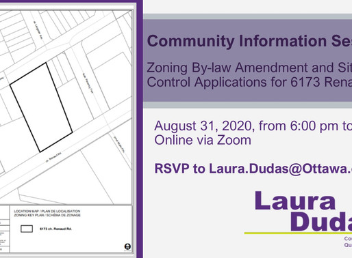 Community info session on proposed development at 6173 Renaud Road  - August 31