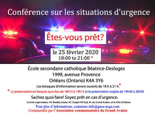Conférence sur les situations d'urgence