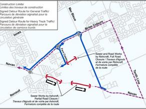 Update From Ashcroft- Navan Road/Renaud Road Closures