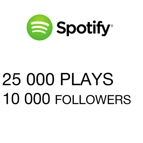 25 000 Plays / 10 000 Followers for Spotify
