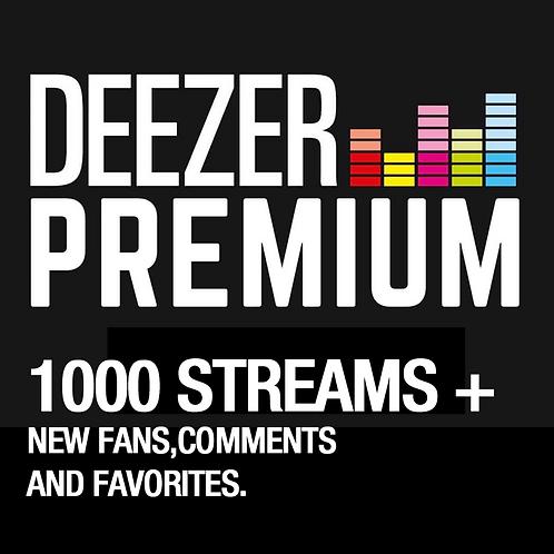 1000 Streams for Deezer