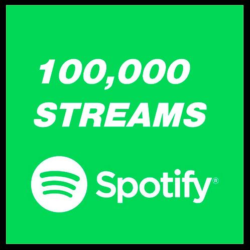 100,000 Streams for Spotify