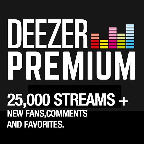 25,000 Streams for Deezer
