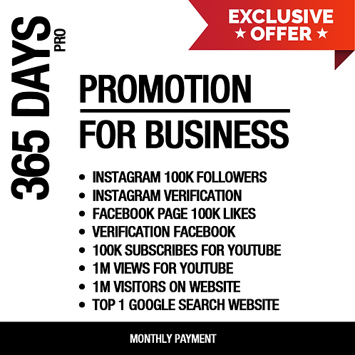 365 Days Promotion For Business (PRO)