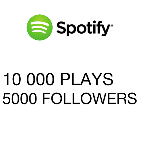 10 000 Plays / 5000 Followers for Spotify