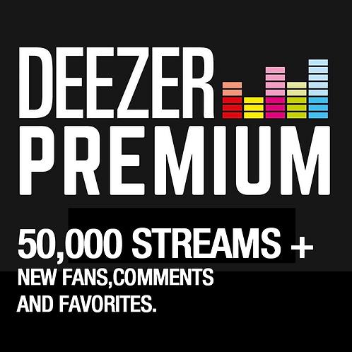50,000 Streams for Deezer