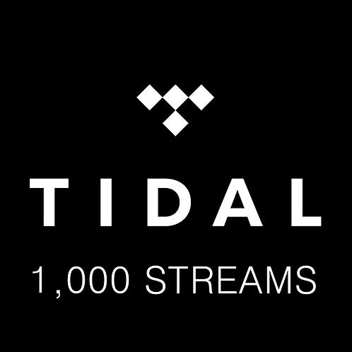 1,000 Streams for Tidal