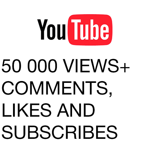 50 000 Views for YouTube