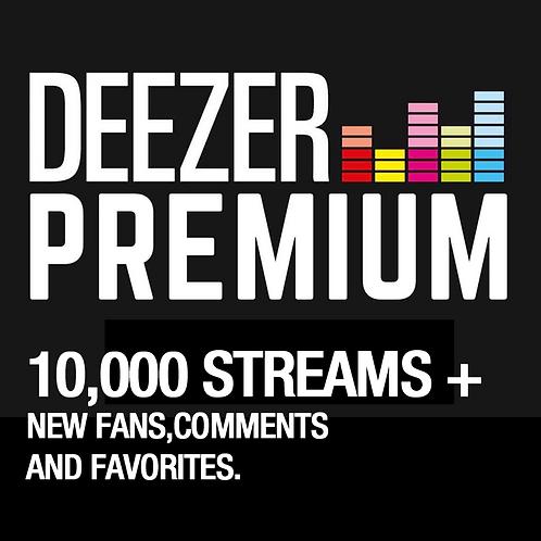 10,000 Streams for Deezer