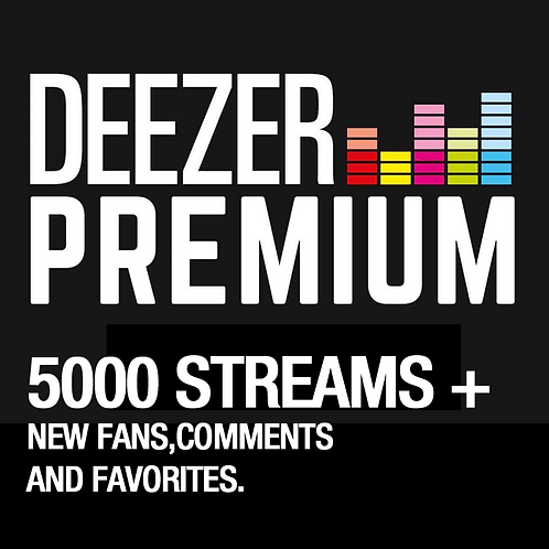 5000 Streams for Deezer