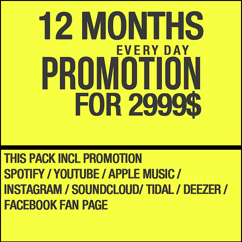 12 Months Everyday Promotion