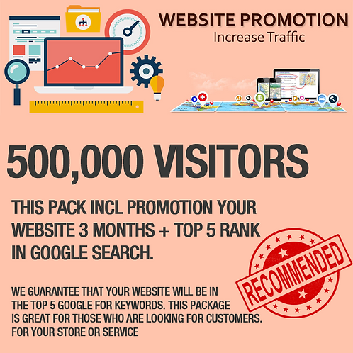 500,000 Visitors on Website