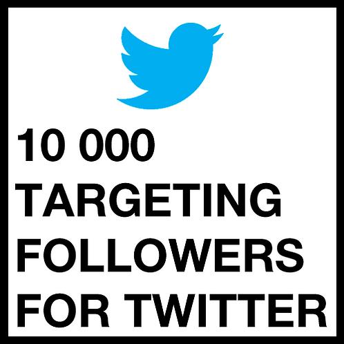 10 000 Twitter Followers