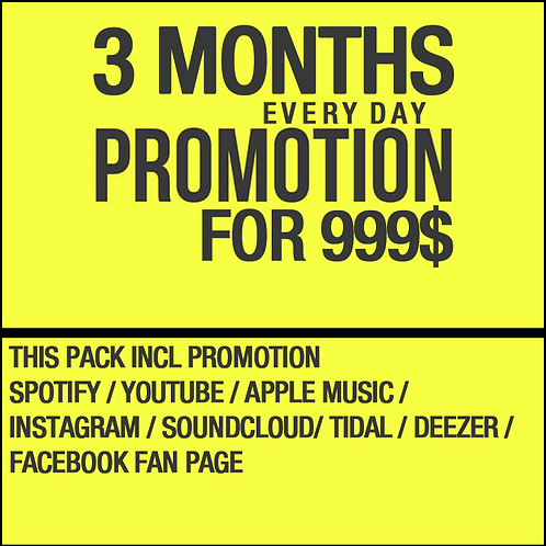 3 Months Everyday Promotion