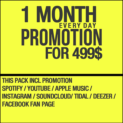 1 Month Everyday Promotion