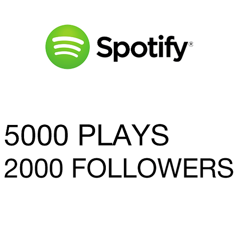 5000 Plays / 2000 Followers for Spotify