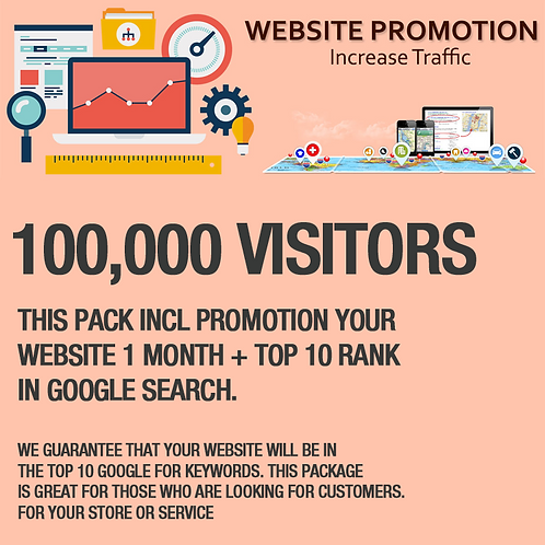 100,000 Visitors on Website