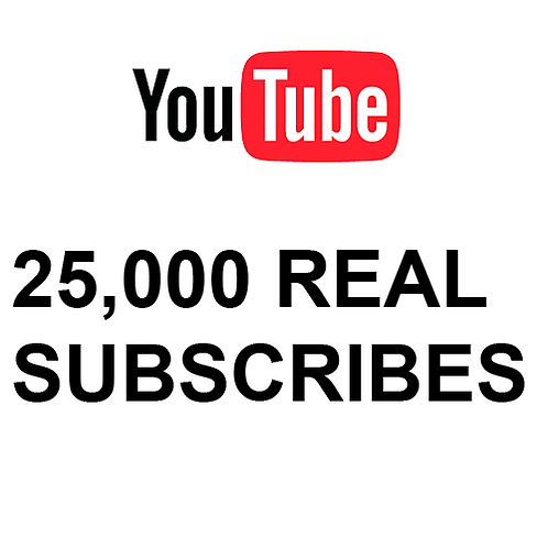 25,000 Real Subscribes