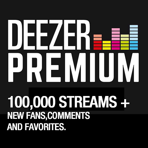 100,000 Streams for Deezer